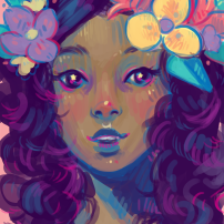 pretty-flower-girl-digital-portrait-painting