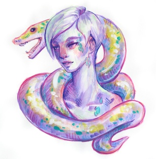 snakeboy-mixed-media-portrait-painting