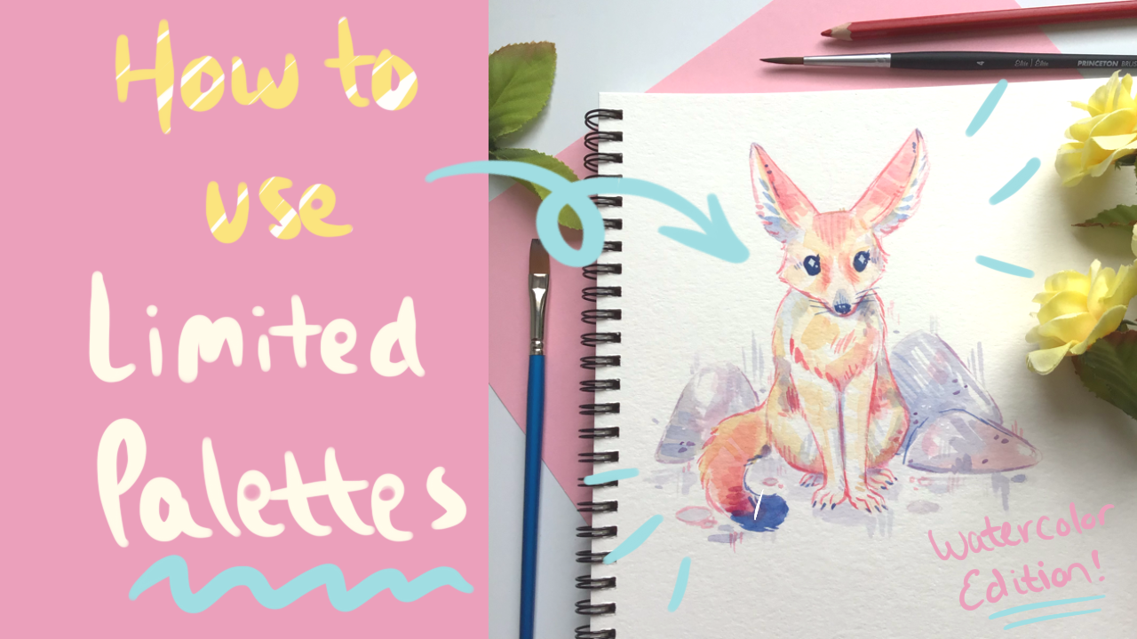 how to use limited color palette watercolor painting
