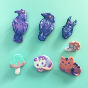 polymer clay pins cute colorful animal shapes.jpg