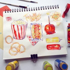 ugly palette carnival food illustration